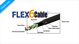 ARC FlexCable Outdoor CAT6 Cable